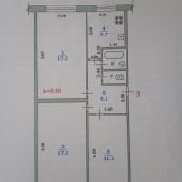 3-к квартира, 60.00 м², 1/3 этаж