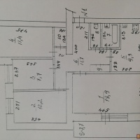 4-к квартира, 77.00 м², 1/3 этаж